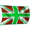 download Union Flag Fluttering In Breeze clipart image with 135 hue color