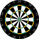 download Dartboard clipart image with 45 hue color