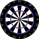 download Dartboard clipart image with 225 hue color