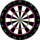 download Dartboard clipart image with 315 hue color
