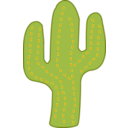 download Cactus clipart image with 315 hue color
