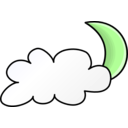 download Weather Symbols Cloudy Night clipart image with 45 hue color