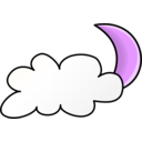 download Weather Symbols Cloudy Night clipart image with 225 hue color