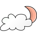download Weather Symbols Cloudy Night clipart image with 315 hue color