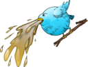 Bird Spewing