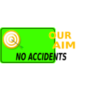 download Our Aim No Accidents clipart image with 45 hue color