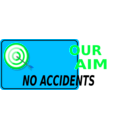 download Our Aim No Accidents clipart image with 135 hue color