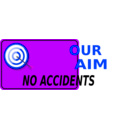 download Our Aim No Accidents clipart image with 225 hue color