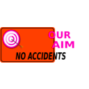 download Our Aim No Accidents clipart image with 315 hue color