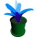 download Bromeliad In A Pot clipart image with 135 hue color