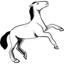 download Horse clipart image with 225 hue color