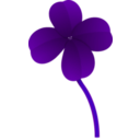 download Clover clipart image with 180 hue color