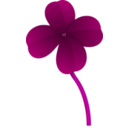 download Clover clipart image with 225 hue color