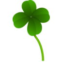 download Clover clipart image with 0 hue color