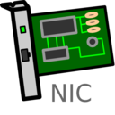 Network Interface Card Labelled