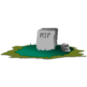 download Grave R I P clipart image with 45 hue color