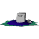 download Grave R I P clipart image with 135 hue color