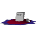 download Grave R I P clipart image with 225 hue color