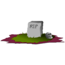 download Grave R I P clipart image with 315 hue color