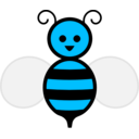 download Honey Bee clipart image with 135 hue color