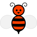 download Honey Bee clipart image with 315 hue color