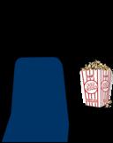 Cinema 2 Person With Popcorn