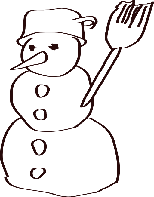 snowman sketch clipart i2clipart royalty free public. Black Bedroom Furniture Sets. Home Design Ideas