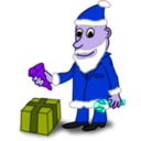 download Comic Characters Santa clipart image with 225 hue color