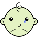 download Baby Crying clipart image with 45 hue color