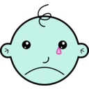 download Baby Crying clipart image with 135 hue color