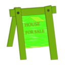 download House For Sale clipart image with 45 hue color
