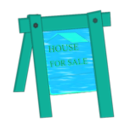 download House For Sale clipart image with 135 hue color