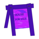 download House For Sale clipart image with 225 hue color