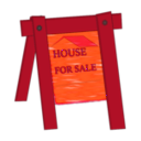 download House For Sale clipart image with 315 hue color