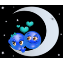 download Lover Moon Smiley Emoticon clipart image with 180 hue color