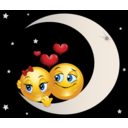 Lover Moon Smiley Emoticon