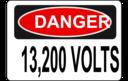 Danger 13 200 Volts Alt 1