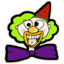 download Clown Face clipart image with 45 hue color