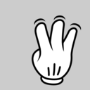 Multitouch Interface Mouse Theme 3 Fingers Simple Tap