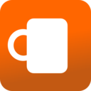 Coffee Mug Icon Orange Background