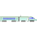 download Locomotive clipart image with 45 hue color