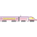 download Locomotive clipart image with 225 hue color