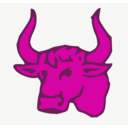 download Red Bull Head clipart image with 315 hue color