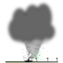 download Tornado clipart image with 315 hue color