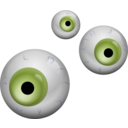 download Eyes clipart image with 225 hue color