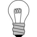 download Light Bulb Off clipart image with 315 hue color