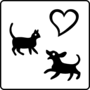 download Hotel Icon Allows Pets clipart image with 315 hue color