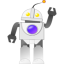 download Bot clipart image with 225 hue color