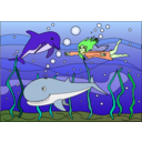 download Sea Fantasy clipart image with 45 hue color