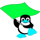 download Tux Bandera clipart image with 135 hue color